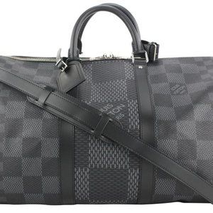 Louis Vuitton Damier Graphite 3D Keepall Bandoulie